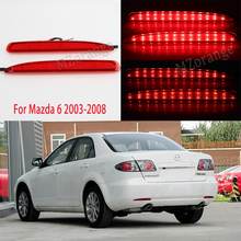 цена на For Mazda 6 2003 - 2008 2pcs LED red black Rear lights Tail lights Brake Lights Stop lamps tail light rear bumper lights