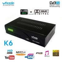 Vmade K6 AV/Scart Interface DVB T2/DVB T TV Tuner Receiver HD Digital Terrestrial Receptor Support H.265 AC3 Built in Network