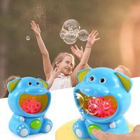 Bubble Machine Automatic Durable Bubble Blower Hippo Elephant Bubble Blowing Toy For Kids Children