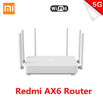 Xiaomi Redmi AX6 Router 2976Mbps Mesh WIFI6 5G Dual-Frequency 512MB 4-Core CPU+2-Core NPU OFDMA 6 Antennas pppoe Wireless Router