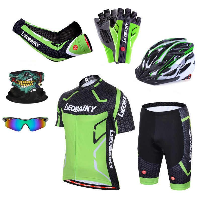 Oddychający zestaw koszulek kolarskich Pro Team mężczyźni rowerowa odzież sportowa rower Skinsuit męski szybkoschnący odzież Mtb z krótkim rękawem