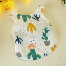 Cartoon printed Pet Dog Summer Vest Clothes Cat Shirt T-shirt Cotton Clothing Costume For Small Dogs Yorkshire Chihuahua