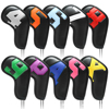 10pcs Golf iron covers golf club head covers of various colors and styles both men and women can use