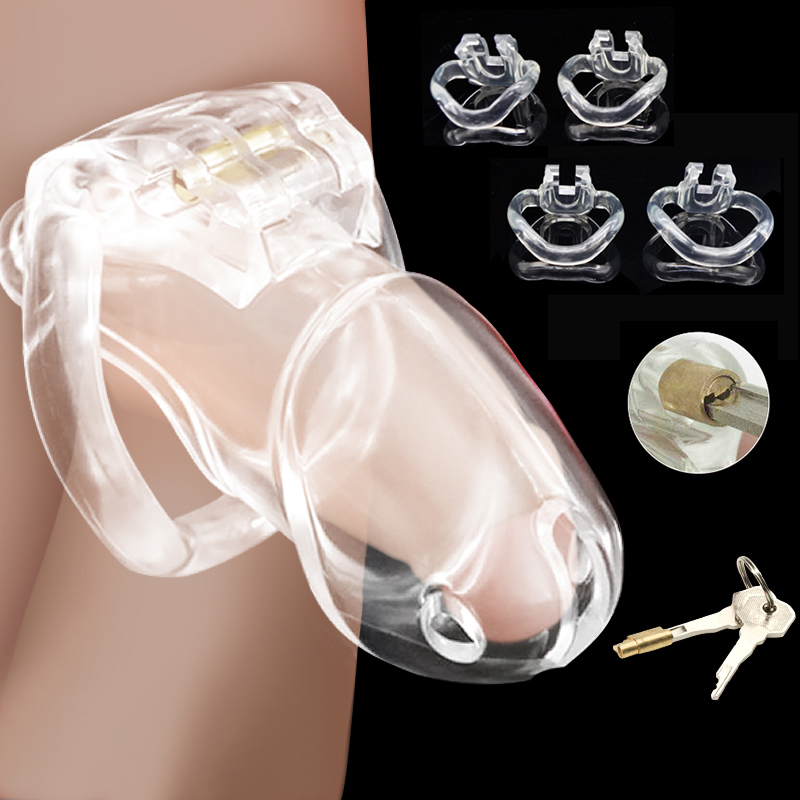 Erotic Urethral Lock Male Chastity Cage Adjustable Cock Rings For Men Penis Bondage Toys Sex SM Restraint Device BDSM Product