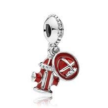 Настоящий бусины из стерлингового серебра 925, женский браслет Pandora, подарок, сделай сам, ювелирное изделие