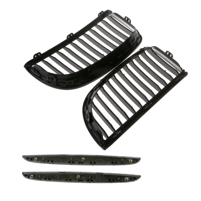 1Pair Gloss For E90 E91 Black Front Kidney Grill Grilles BMW Saloon 2005-2008 4D Racing Grills Auto Exterior Parts