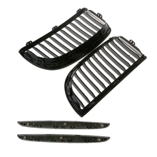 1Pair Gloss For E90 E91 Black Front Kidney Grill Grilles For BMW Saloon 2005-2008 4D Racing Grills Auto Exterior Parts vodool 1 pair gloss black car racing grills automobile front bumper kidney grilles for bmw e90 e91 2008 2011 auto accessories