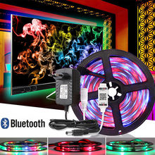 5M SMD 2835 RGB LED Strip Waterproof APP Bluetooth Controller Flexible Neon Ledstrip Backlight TV Ribbon Light Diode Tape DC 12V(China)