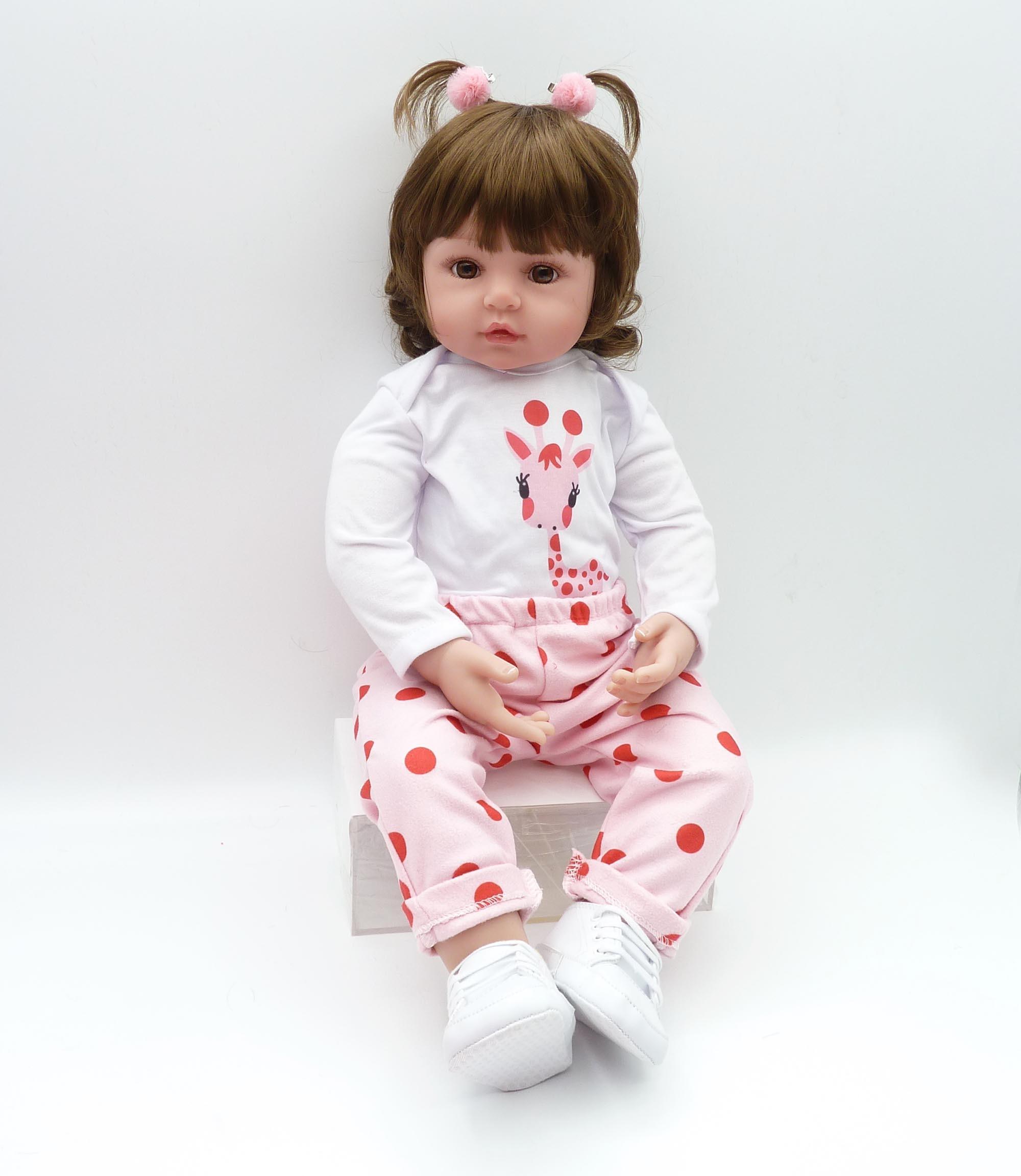 Nouveau-né 19 pouces silicone poupée bebe reborn poupée mignon peluche jouet bébé fille donne à l'enfant le meilleur cadeau d'anniversaire de noël enfant! - 5