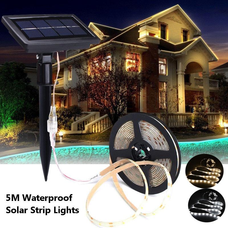 de tira luzes led flexível corda solar
