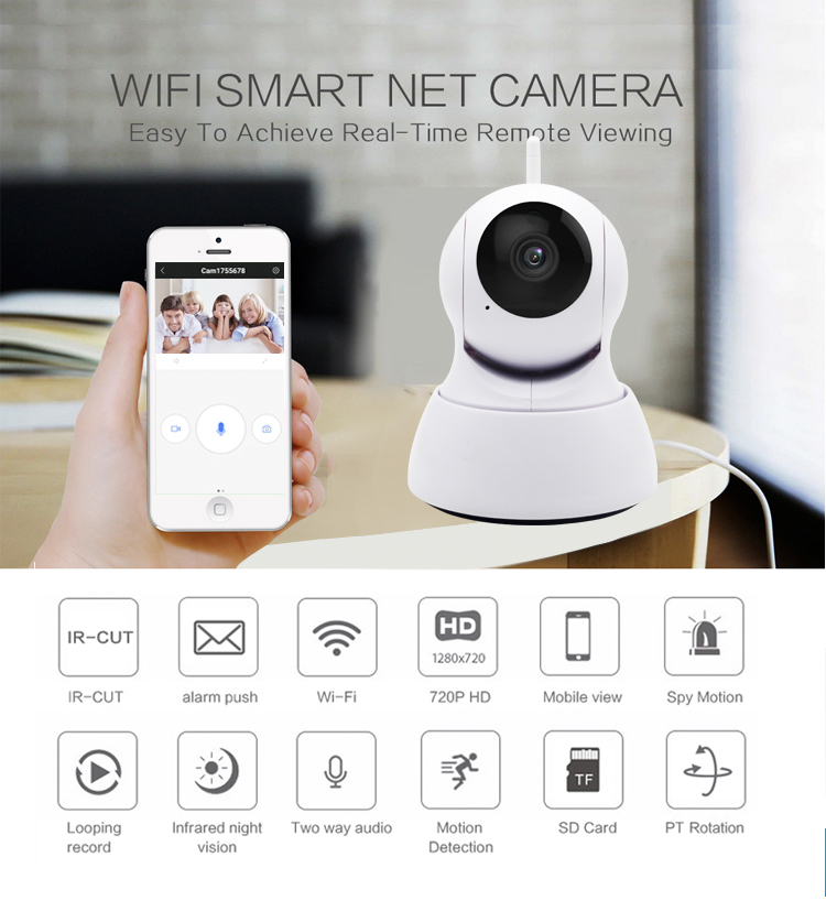 1080P  Home  baby monitor Security IP Camera Two Way Audio Wireless Mini Camera Night Vision CCTV WiFi Camera Baby Monitor Y2