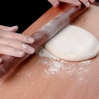 Rodillo de madera de Acacia para hornear, rodillo de amasar para repostería, herramientas de cocina de madera de Navidad, accesorios de panadería