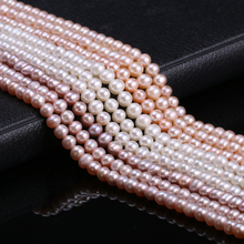 Hot Sale Natural Freshwater Cultured Pearls Beads Round 100% for Jewelry Making Craft Necklace Bracelet 15 Inches