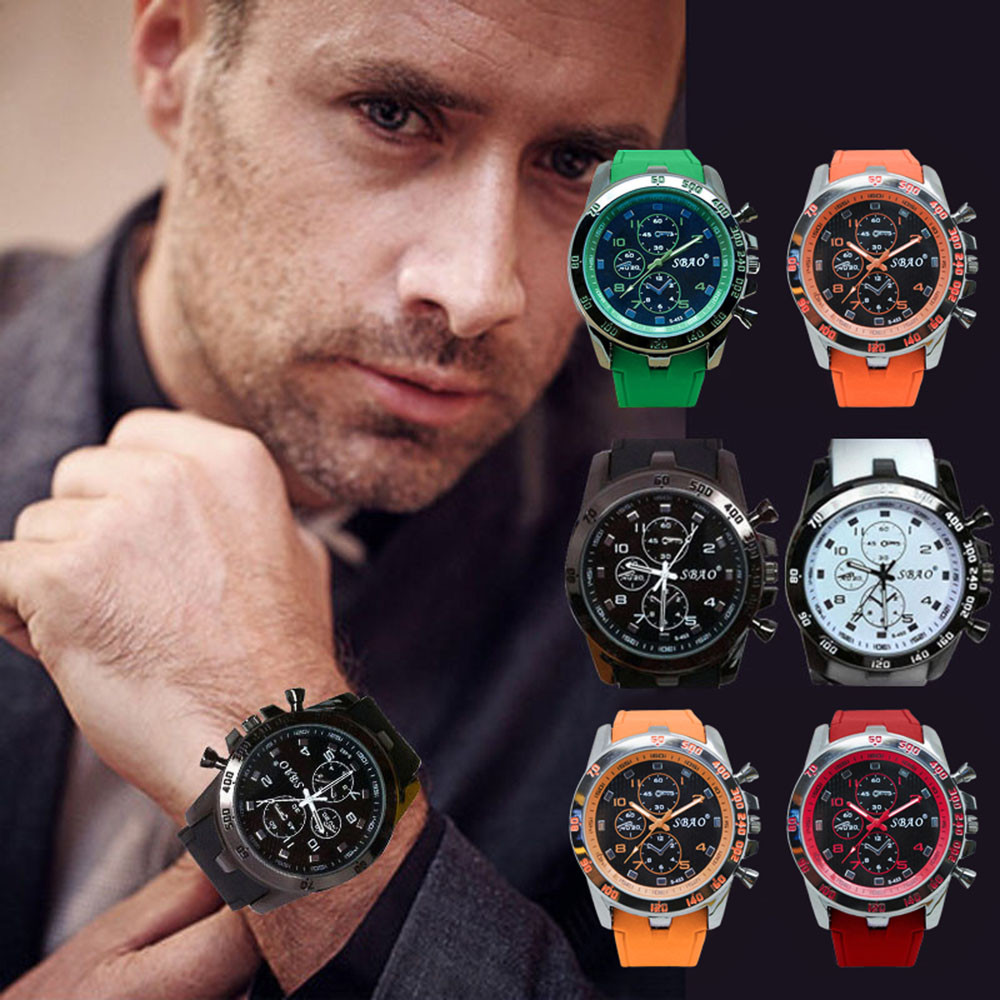 Mens Sports Watches Relogio Masculino 2019 Hot Sale Men Silicone Strap Quartz Watch Reloj S Shockproof Electronic Wristwatch @5