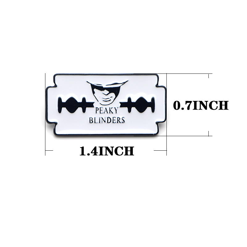 CA464 высокое качество остроконечные шоры ТВ Мультфильм Металл Эмаль Краска значок булавки и броши ювелирные изделия крутые подарки для фанатов 1 шт