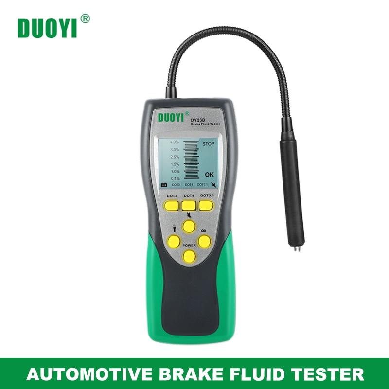 DUOYI автомобильный тестер тормозной жидкости DY23/DY23B точный тест автомобиля тормозной жидкости содержание воды проверить универсальное каче...
