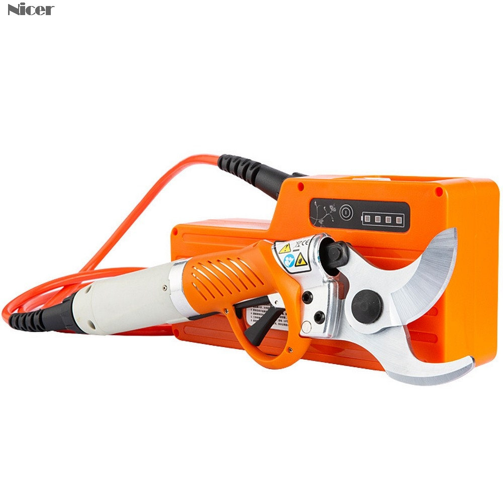 Electric Pruning Shears Cordless Electric Tree Pruner 36V Rechargeable Battery Adjustable Shear Branch Scissors Pruning Tools