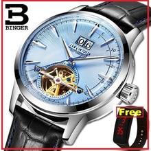 BINGER-relojes de marca de lujo para hombre, automático, mecánico, SEIKO, zafiro, movimiento japonés, masculino