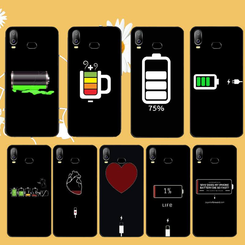 NBDRUICAI simple <font><b>Battery</b></font> Life Cycle DIY Painted Bling Phone <font><b>Case</b></font> For <font><b>Samsung</b></font> A10 A20 A30 A40 A50 <font><b>A70</b></font> A71 A51 A6 A8 2018 image