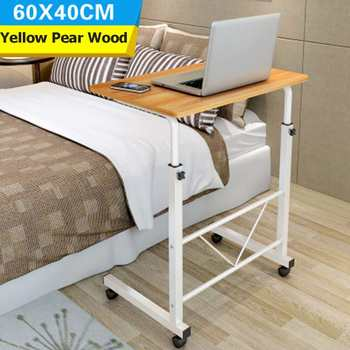 Wielofunkcyjny składany stół nocne biurko biurko na laptopa stół arties drewniana regulowana wysokość mobilny komputer biurko Student akademik tanie i dobre opinie SKUC25002 Home Office China Steel Pipe + Presswood Laptop biurko Modern Simple Design