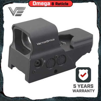 Vector Optics Omega Tactical Reflex 8 Reticle Red Dot Sight High End Quality Scope fit for .223 AR15 7.62 AK47 12ga - DISCOUNT ITEM  0% OFF All Category