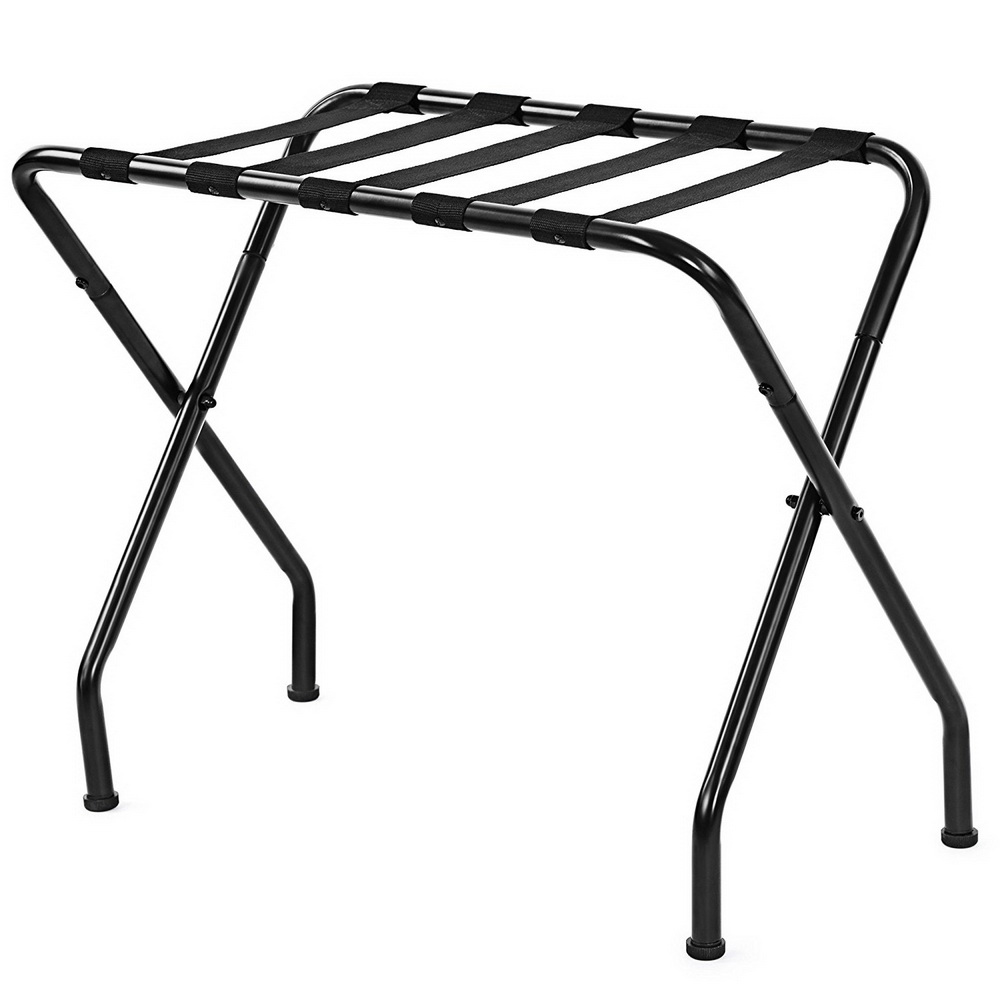Chrome Metal Folding Luggage Rack Suitcase Stand Bag Holder 68x40x56cm HFing