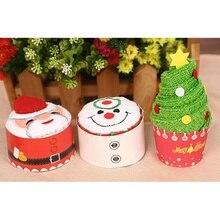 30*30 см, рождественский подарок, Хлопковое полотенце для кексов, Детский новогодний подарок, рождественская елка, Санта Клаус, рождественский подарок, полотенце для рук
