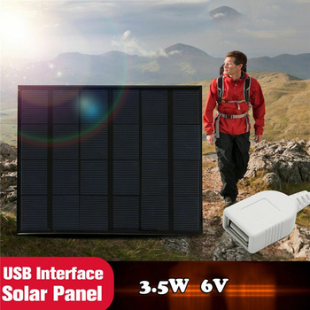 Newest Solar Panel System Charger 3.5W 6V Charging for Mobile Phone Power Bank Camping garden decoration 4