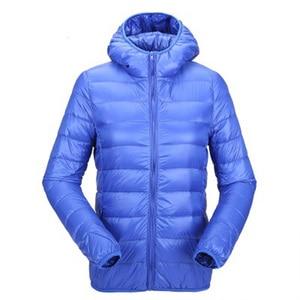 Image 2 - ZOGAA kadın ultra hafif şişme mont kapşonlu kış ördek aşağı ceket kadın ince uzun kollu Parka fermuar Coats cepler ceketler