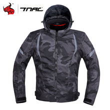 TNAC – veste de moto imperméable pour homme, équipement réfléchissant, pour motocross, hiver