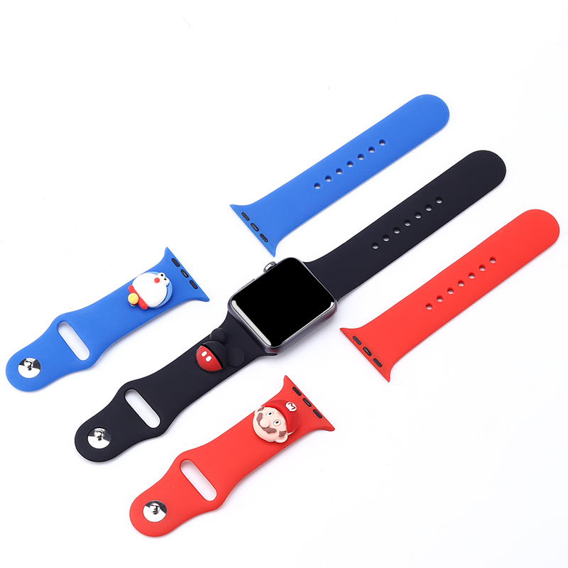 Cartoon silicone strap for apple watch 5 <font><b>4</b></font> <font><b>3</b></font> <font><b>2</b></font> 1 watchband for iWatch Replacement strap 38mm 42mm 40mm 44mm protector cover image