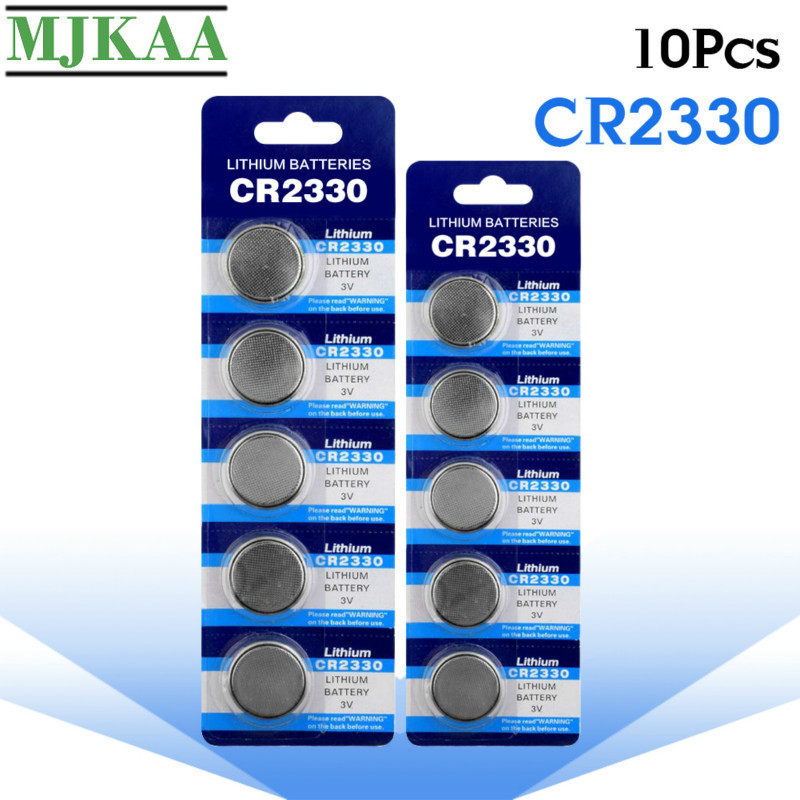 MJKAA 10PCS CR2330 3V Button Batteries BR2330 ECR2330 CR 2330 Cell Coin Lithium Battery for Watch Electronic Toy Remote image