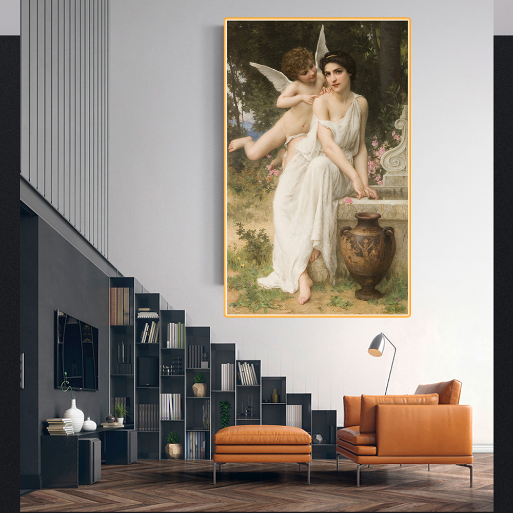 Citon Amable Lenoir《Loves-whisper》Canvas Oil Painting World Famous Artwork Poster Picture Modern Wall Art Decor Home Decoration image