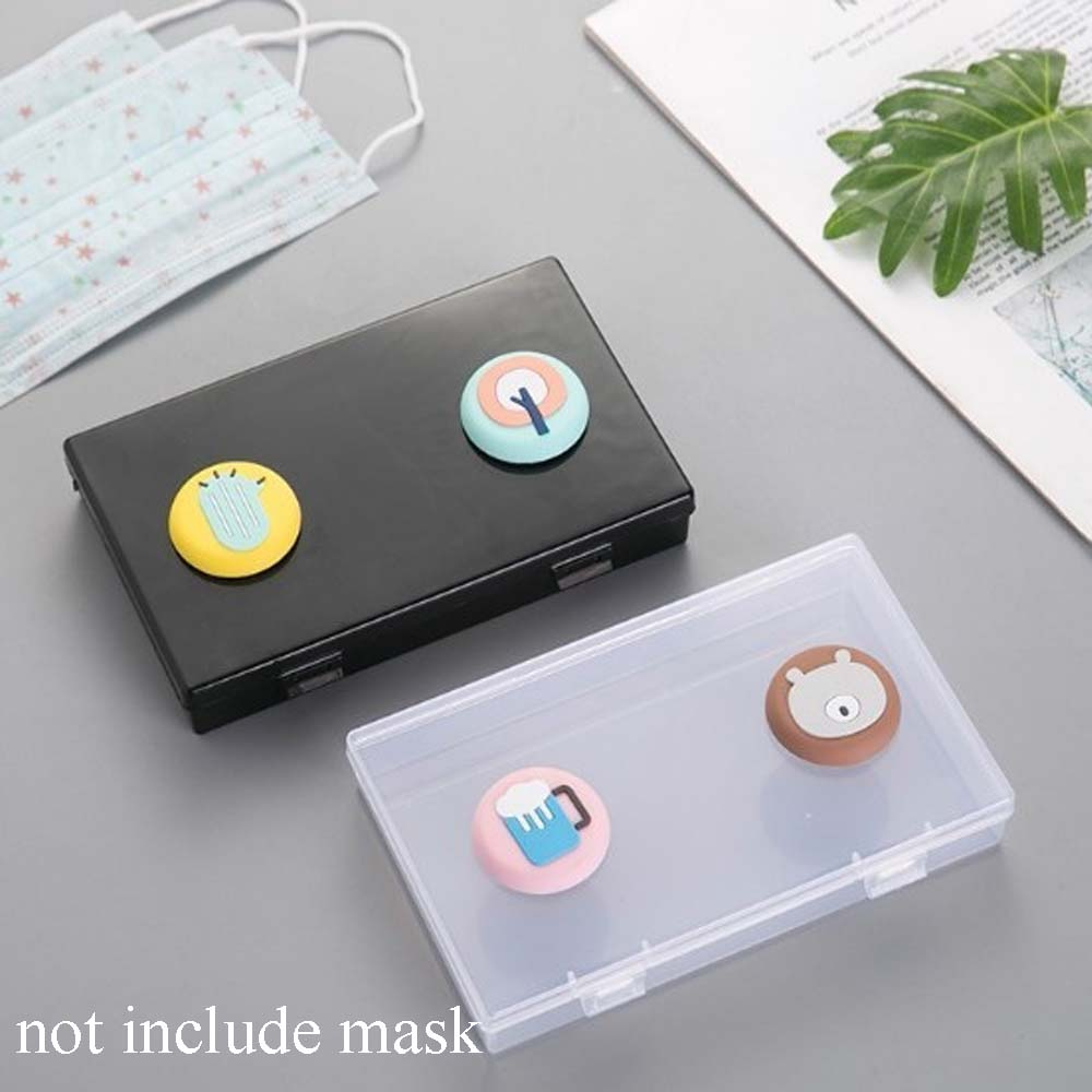 1 Pcs Disposable Dustproof Storage Box Mask Storage Box Transparent Empty Box Simple Square PP Storage Box