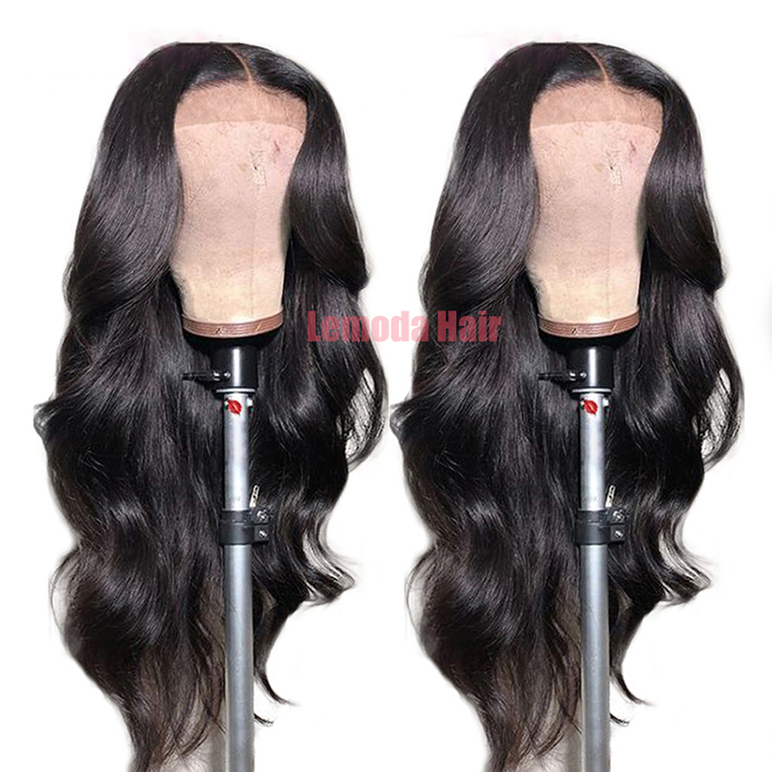 H20020fa28ca94c27877f6af999b6f8b7t 26 Inch Body Wave Wig Malaysian 4x4 Closure Wig Preplucked Natural Human Hair High Ratio Lemoda 150% Remy Hair Lace Closure Wig