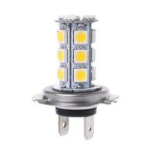H7 теплый белый 18-SMD светодиодный лампы противотуманного фонаря 12V сигнальный светильник