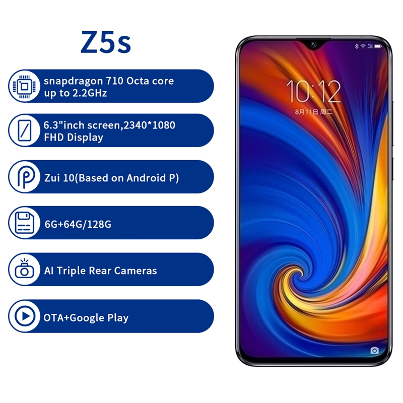 Image 3 - Lenovo Z5S 6GB 64GB 128GB with gift 6.3 inch Smartphone Z5 s Triple Rear Camera cellphone Snapdragon 710 Android P Global ROM