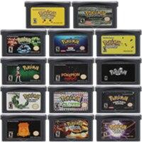 цена на Video Game Cartridge Console Card 32 Bits Pokeon B Collection English Language Series For Nintendo GBA