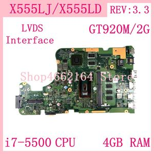 X555LJ LVDS 4GB RAM i7-5500 CPU GT920M/2G REV 3.3 Motherboard For ASUS X555L X555LD X555LF X555LP W519L Laptop Mainboard Test OK
