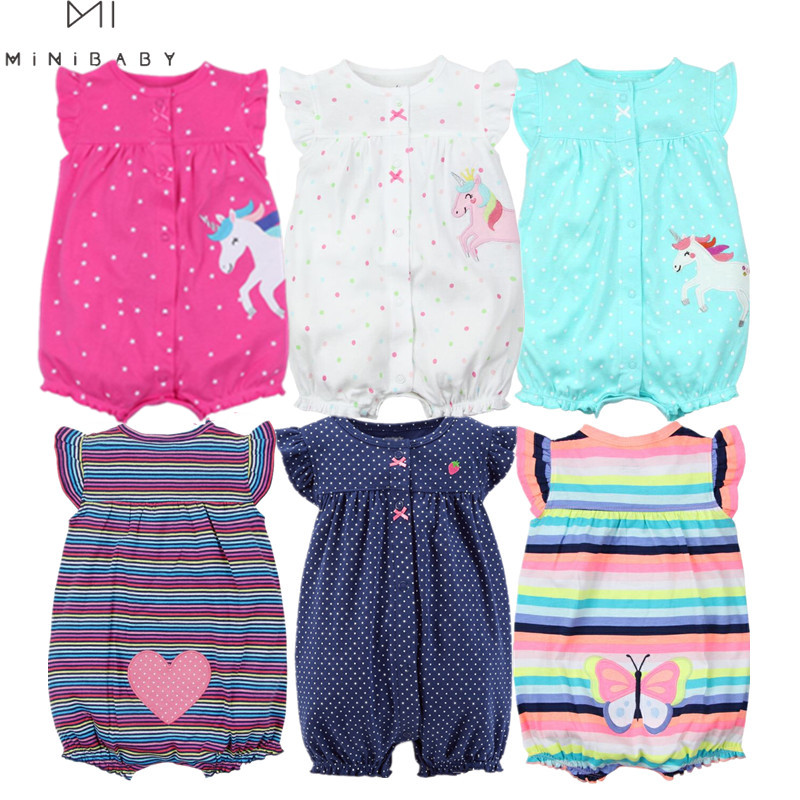 Orangemom summer baby girl clothes one-piece jumpsuits baby clothing ,cotton short romper infant girl clothes roupas menina home(China)