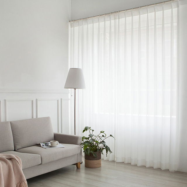 White Curtains for Living Room 3