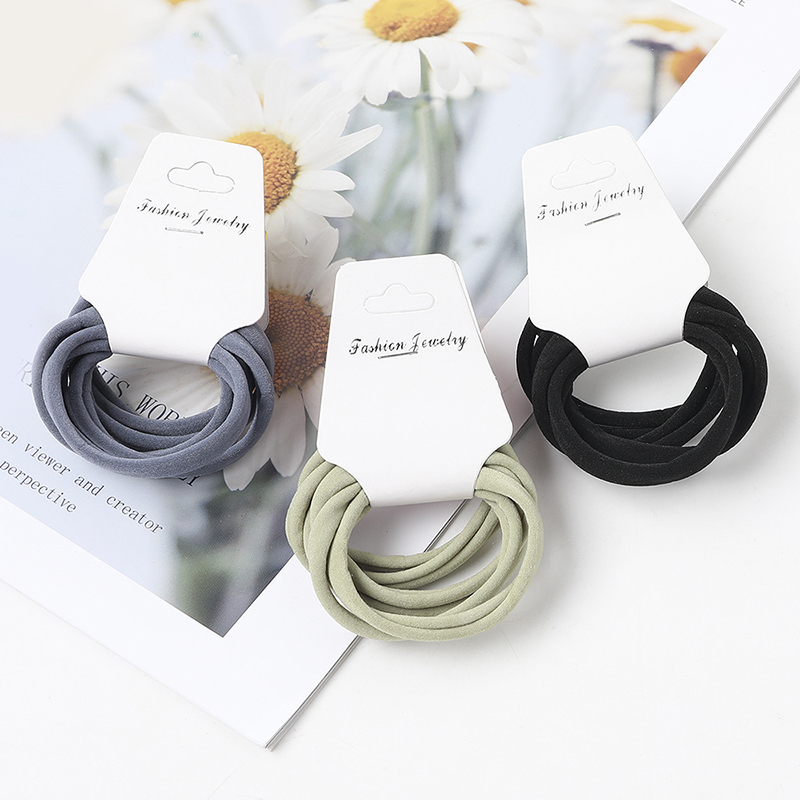 6pcs/set High Elastic Hair Ring Sweet Girls Colorful Basic Hair Rubber Bands Ponytail Holder Fashion Hair Accessories For Women
