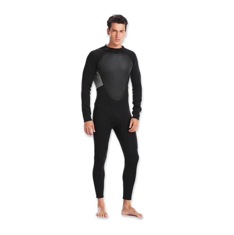Diving Suit Male Full Bodysuit Wetsuit 3mm Neoprene Stretchy Swimming Long Sleeve Wetsuit Surfing Snorkeling Full Bodysuit