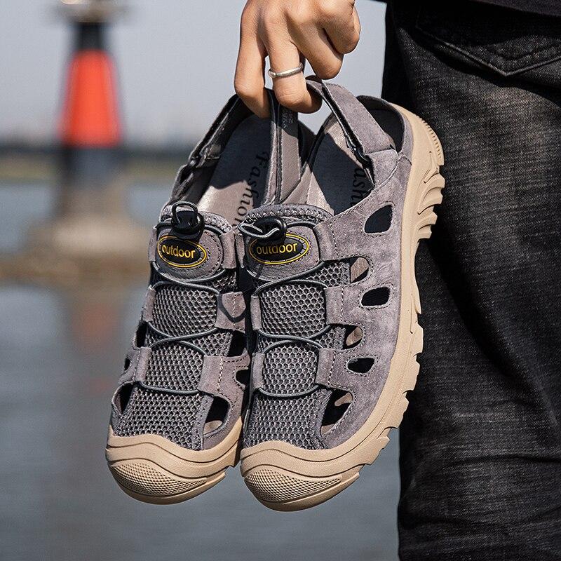 Mountain Size Sandalias Male Sandalen Slip Sneaker Luxury Comfort Beach Men Hombre 39 Hollow Slippers Shoe Safety Masculina S