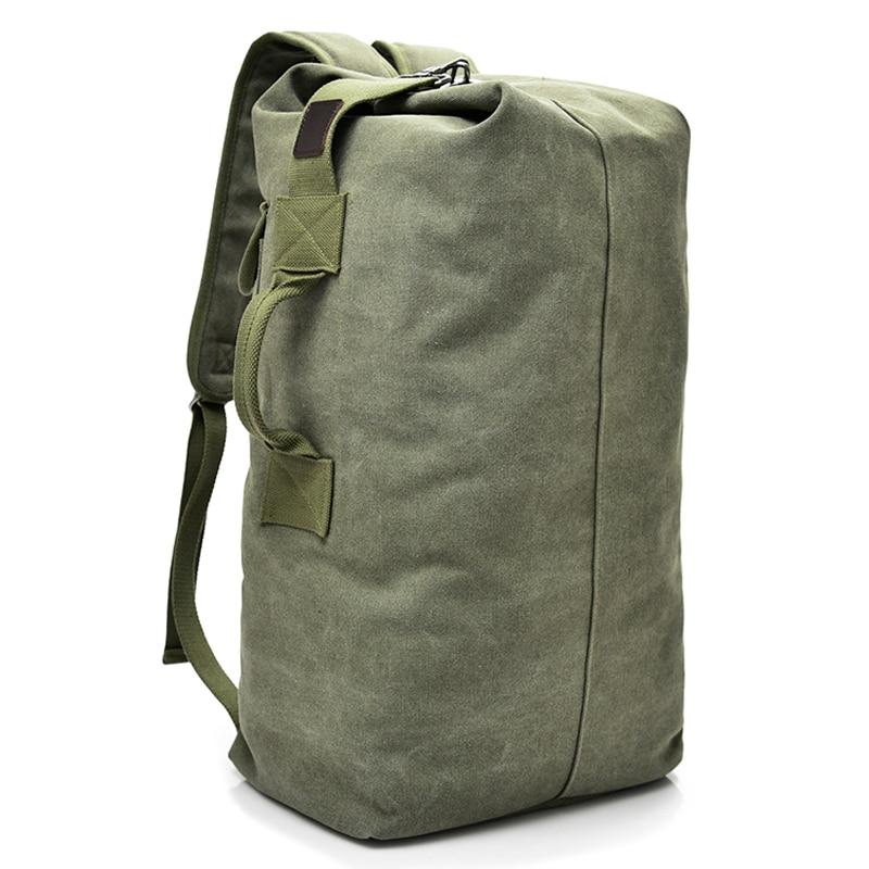 Large Capacity Rucksack Man Travel Bag Mountaineering Backpack Male Luggage Boys Canvas Bucket Bags Men Backpacks