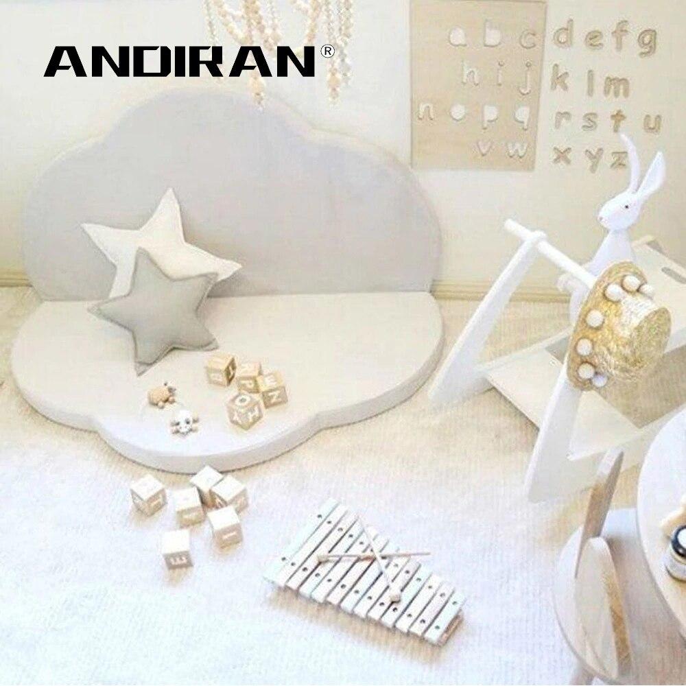 ANDIRAN 4cm Kids Carpet  Foldable Washable Mat For Children Foam Baby Play Mat Soft Children's Room Decoration