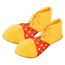 Large Clown Shoes Dot Halloween Costume Party Props Clown Shoes Cosplay Character Play Clown Boots Dress Up Women Men (One Size)