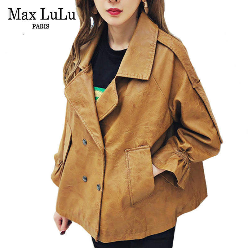 Max LuLu 2019 Autumn European Fashion Ladies Biker Clothes Womens Punk Pu Coat Vintage Streetwear Faux   Leather   Jackets Plus Size