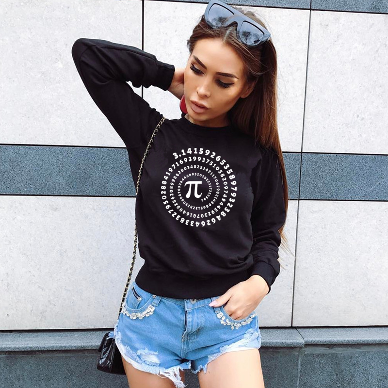 Women Fashion Brand Hoodie Digital Number Letter Print Knitted Long Sleeve Sweatshirt For Women Harajuku Women's Sweatshirts Top