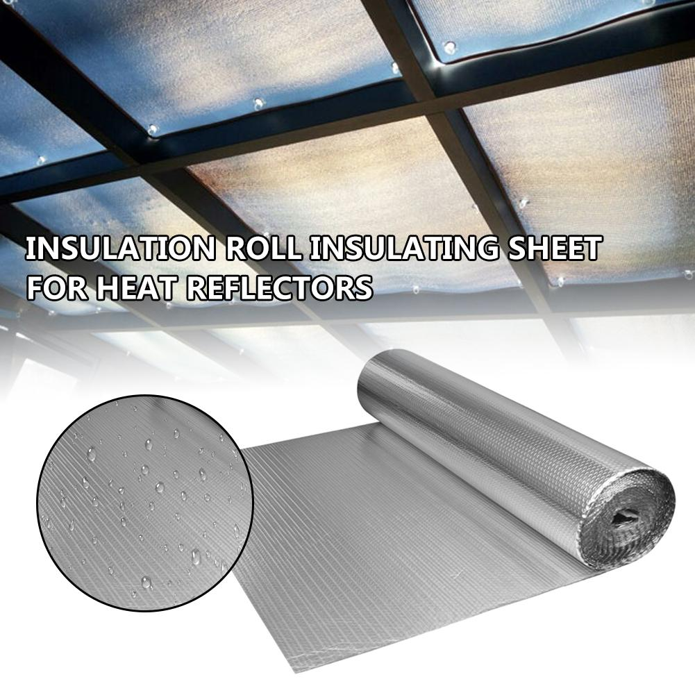 Bubble Reflective Foil Insulation Roll Insulating Sheet Insulation Thermal Barrier For Heat Reflector 2 M * 60 Cm